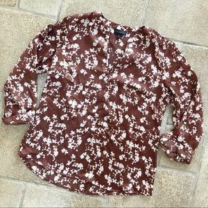 The Limited Brown Floral Blouse